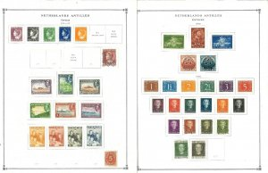 Netherlands Antilles (Curacao) Mostly Mint & Used Hinged on Scott Int.Pages