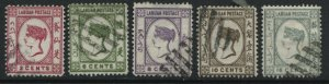 Labuan QV 1892 various values to 16 cents used