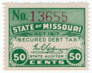 (I.B) US Revenue : Secured Debt Tax 50c (Missouri)