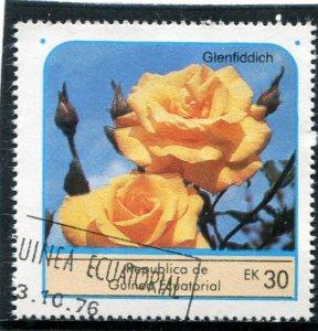 Equatorial Guinea 1976 ROSES GLENFIDDICH 1 value Perforated Fine Used