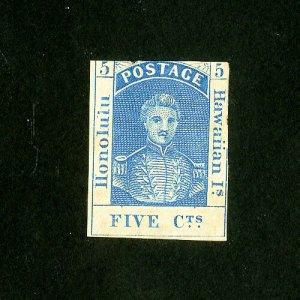 Hawaii Stamps # 8 F Unused Slight Thin Catalog Value $700.00