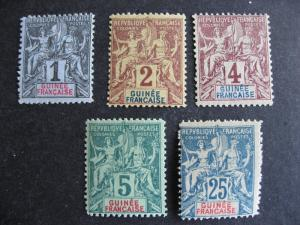 French Guinea Sc 1-4, 10 MH (1 has hinge thins) check them out!