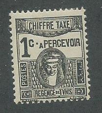Tunisia Scott Catalog Number J12 Issued in 1922 Unused Heavy Hinged
