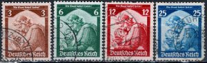 Germany; 1935: Sc. # 448-451: O/Used Cpl. Set