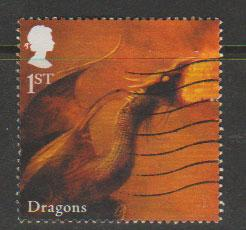 GB  QEII  SG 2944 fine used  2009 mythical creatures