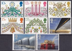 Great Britain #928-32, 1019-21 MNH CV $3.05 (Z4367)
