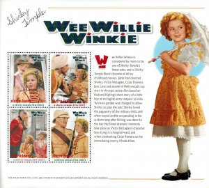 Sierra Leone MNH S/S Shirley Temple In Wee Willie Winkie #1 X-Large Size