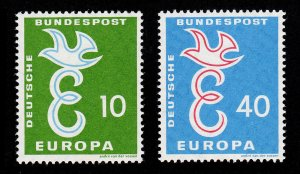GERMANY DEUTSCHE BUNDESPOST SCOTT #790-791 EUROPA MNH-OG 1958