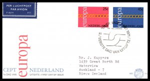 Netherlands 488-489 Europa Typed FDC