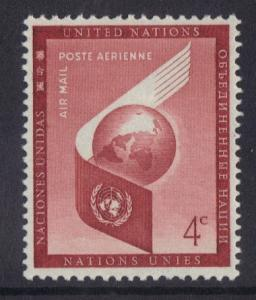 United Nations New York 1957 Air  4c   #