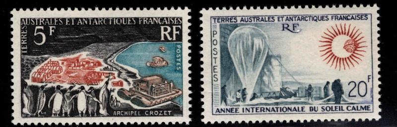 France Southern & Antarctic Territory FSAT Scott 23-24 MNH** 1963 set CV$130