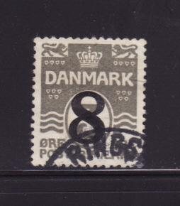 Denmark 163 Set U Numerals (A)