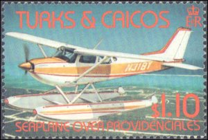 Turks and Ciacos Islands #535-538, Complete Set(4), 1982, Airplanes, Helicopt...