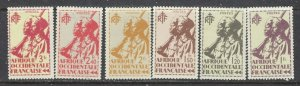 French West Africa 24-29 MH 1945 part set (ap7007)