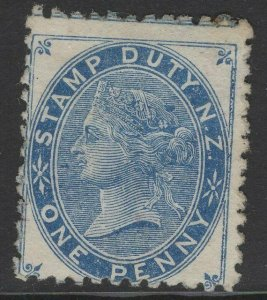 NEW ZEALAND SGF2 1882 1d BLUE MTD MINT SOME O.G.