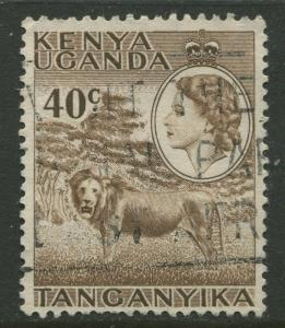 Kenya & Uganda - Scott 109 - QEII Definitive -1954 - Used - Single 40c Stamp