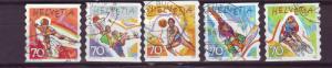 J173 jls stamps 1998 swiss sports set/5 used
