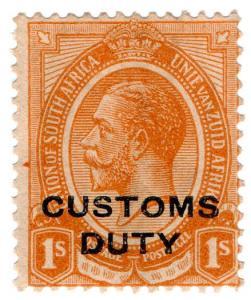 (I.B) South Africa Revenue : Customs Duty 1/-