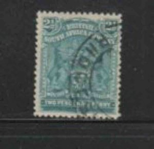 RHODESIA #62 1898 2 1/2p COAT OF ARMS F-VF USED