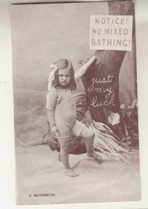 VICTORIA, 1906 ppc. NO MIXED BATHING, Young Girl, Toorak to Malvern, 1/2d.(2).