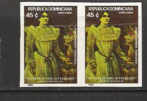 DOMINICAN REP. DOMINICANA C376 IMPERF PAIR 1043D
