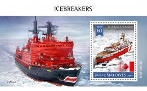MALDIVES - 2019 - Icebreakers - Perf Souv Sheet - MNH