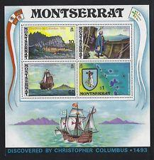 SCOTT # 295A MONTSERRAT 480TH ANNIVERSARY CHRISTOPHER COLUMBUS
