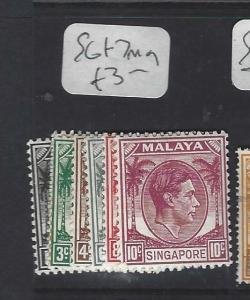 SINGAPORE (PP0502B)  KGVI  1C-10C  SG 1-7   MOG