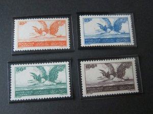 Lebanon 1946 Sc 107-110 Bird set MH