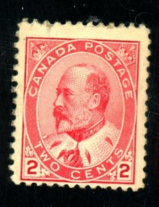 CANADA #90 MINT FVF OG NH TINY MGN STAIN Cat $95