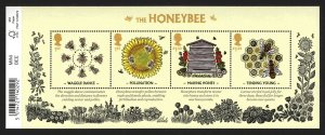 MS3742 2015 Bees miniature sheet barcode UNMOUNTED MINT