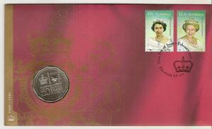 Australia 2002 Golden Jubilee - 50c Coin Cover