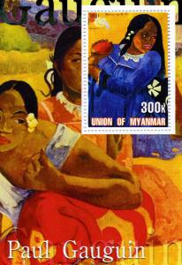 Union of Myanmar 2001 Paul Gauguin Paintings s/s Perforated mnh.vf