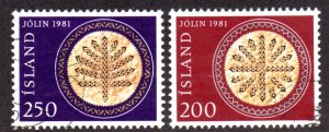 ICELAND 550-1 USED BIN $1.00 CHRISTMAS