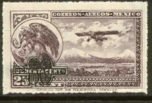 MEXICO C50, 80¢ on 25¢ Surcharged value, rouletted. MINT, NH. F-VF.
