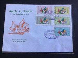 Mozambique Acordó de Lusaka 1975   stamps cover R33313