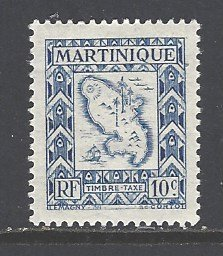 Martinique Sc # J37 mint hinged (RS)