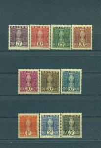French Guinea sc# J26-35 mh cat value $6.60