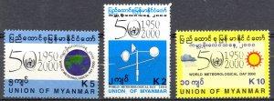 Burma Sc# 350-352 MNH 2000 World Meteorological Day