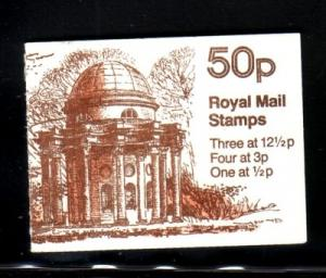 Great Britain Sc BK237 50p Temple Sun bklt mint NH