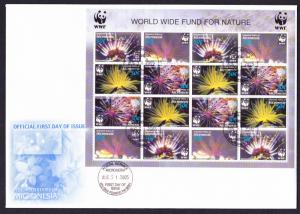 Micronesia WWF Feather Stars FDC Sheetlet of 4 sets SG#1347-1350 MI#1674-1677