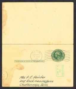United States Reply Card Scott UY14