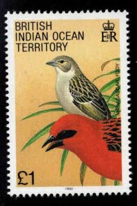 British Indian Ocean Territory BIOT Scott 105 MNH** Madagascar Fody Bird stamp