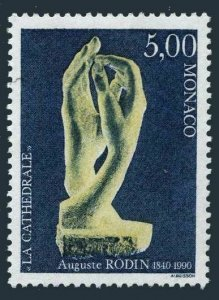 Monaco 1740,MNH.Michel 1989. Sculpture The Cathedral,by Auguste Rodin,1990.