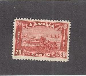 CANADA (MK633)  # 175 VF-MLH 20cts 1930 HARVESTING WHEAT/BROWN RED CAT VALUE $70
