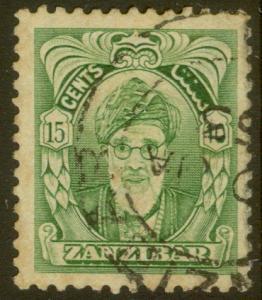 Zanzibar  - 1952 - Scott # 232 - used