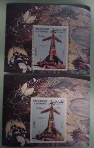 Sharjah Michel Block 110A, 110B Apollo 11 Souvenir Sheets Mint Never Hinged