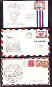 US Airmail Flight Cover Lot of 12 (-101)