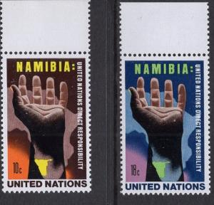 United Nations  New York  #263-264  1975  MNH Namibia