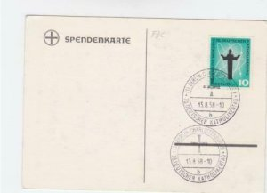 Germany Berlin catholic day 1958 stamps card R21168